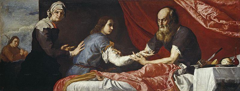 יצחק מברך את יעקב, ציור של חוזה דה ריברה (1637)