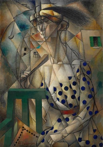 אישה עם מניפה, 1912, מאת ז'אן מצינגר