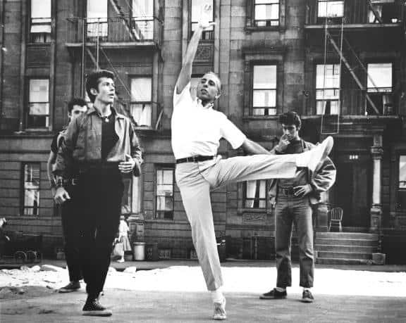 ג'רום רובינס, צילום מחזרה של סיפור הפרברים ב-1961