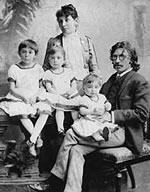 שלום עליכם עם משפחתו בניו יורק ב-1889