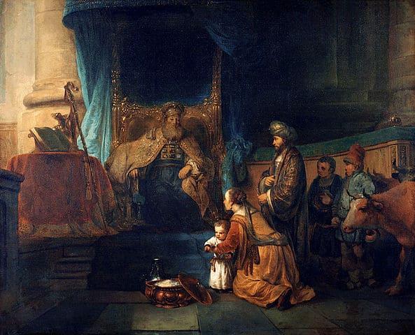 חנה מציגה את בנה שמואל לכהן הגדול. צייר: Gerbrand van den Eeckhout