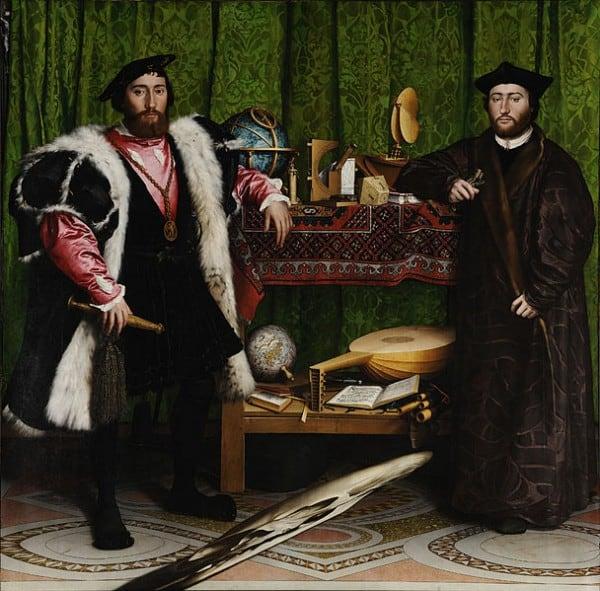 """""""השגרירים"""", מאת האנס הולביין הבן, 1533"""