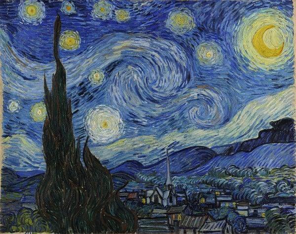 """""""ליל כוכבים"""" מאת וינסנט ואן גוך, 1889"""