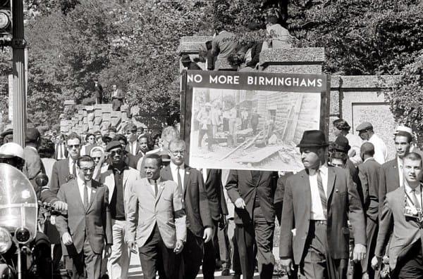 צעדת זיכרון לקורבנות הפיגועים בבירמינגהם ב-22 בספטמבר 1963.