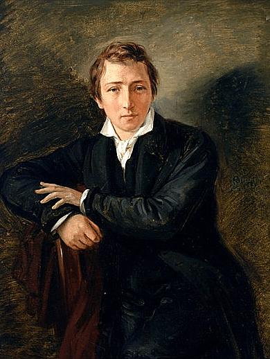 ציור של היינריק היינה מ-1831 מאת מוריץ אופנהיים