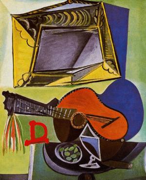 """""""טבע דומם עם גיטרה"""", פאבלו פיקאסו"""