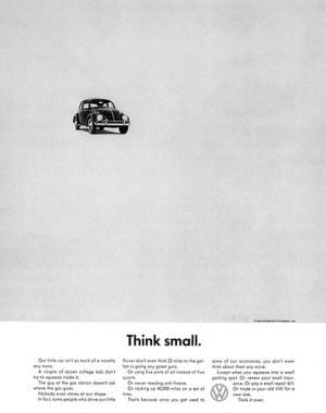 פרסומת של פולקסווגן מ-1959