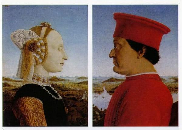 Piero della פיירו דלה פרנצ'סקה, פורטרטים של הדוכס והדוכסית מאורבינו,1472-1467