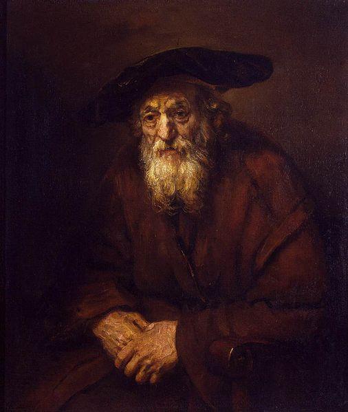 """""""היהודי הזקן"""" מאת רמברנדט"""