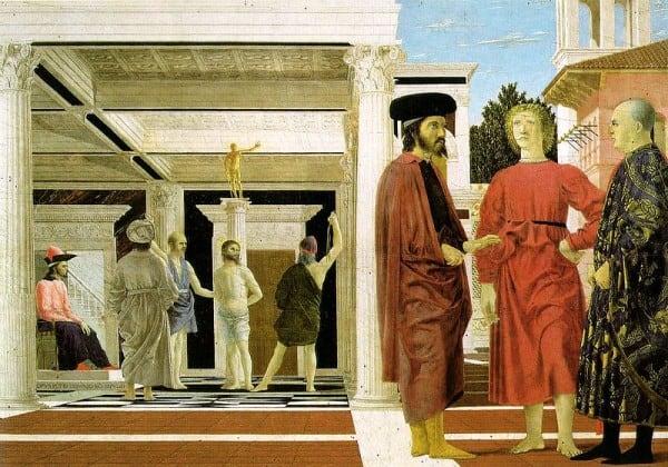 הצלפת ישו, מאת פיירו דלה-פרנצ'סקו