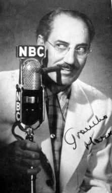 גראוצ'ו מרקס בגלויה מ-1953