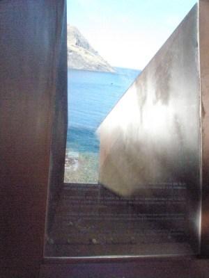 האנדרטה לזכרו של וולטר בנימין מאת דני קרוון. צילום: לירון מילשטיין