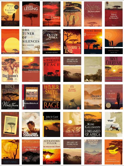 אפריקה, עטיפות ספרים