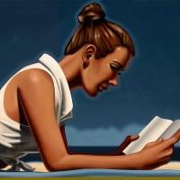 אשה קוראת
