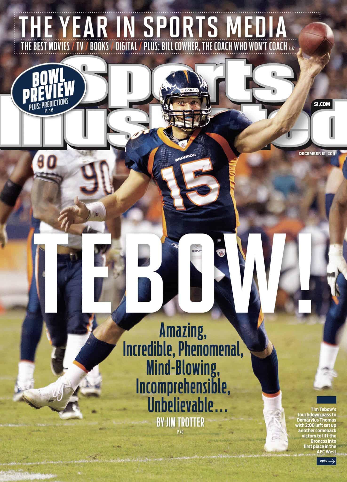 טים טיבוא על שער המגזין Sports Illustrated