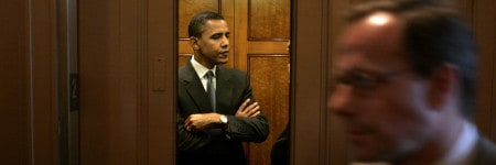 אובמה במעלית