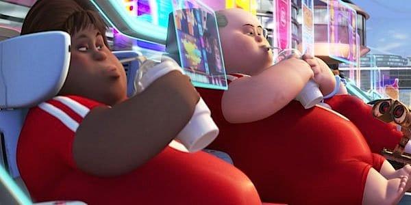 אורח החיים הנרפה שמתואר בסרט וול-E.
