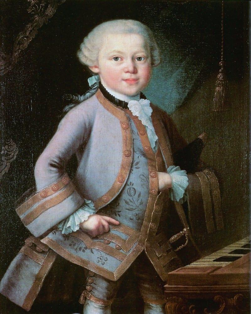 מוצארט בילדותו, מאת הצייר  Pietro Antonio Lorenzoni