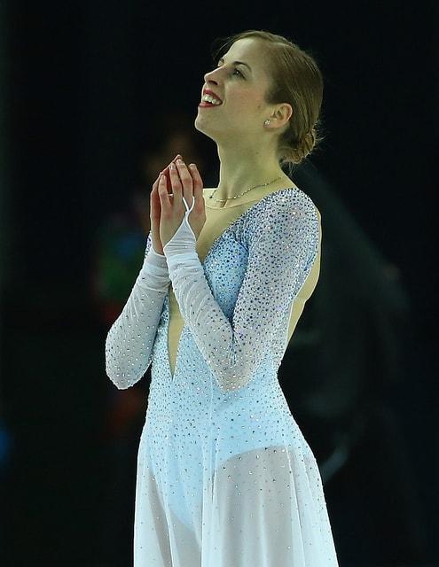 קרולינה קוסטנר באולימפיאדת הנוער להחלקה אמנותית, פברואר השנה. צילום: קמרון רודריגז