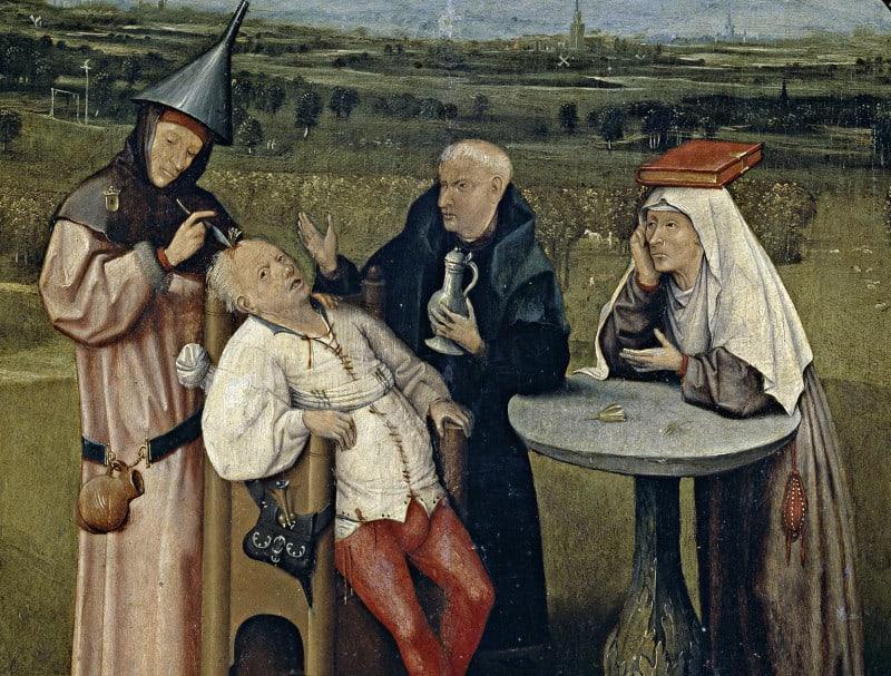 ״הוצאת אבן הטירוף״ מאת הירונימוס בוש (בסביבות 1450–1516)