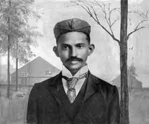 גנדי בדרום אפריקה, 1895.