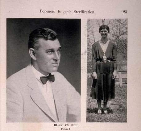 פול פונאו משמאל בכתבה על עיקור אאוגנטי, 1927.