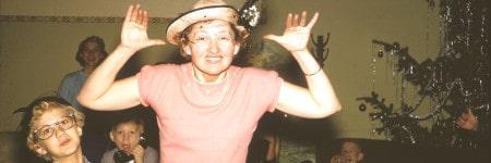 אישה מצחיקה חגים