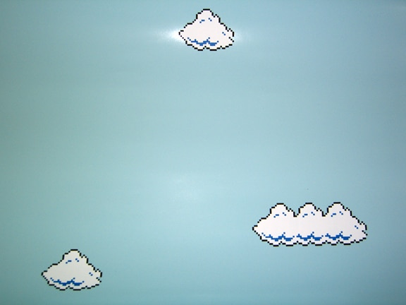 Cory Arcangel, Super Mario Clouds, 2003. צילום: ג׳ניס