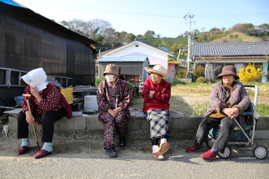 זקנים ביפן