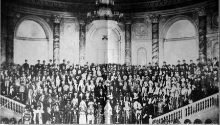 צילום מרחוק של הנשף האחרון של בני האצולה הרוסית ב-1903.