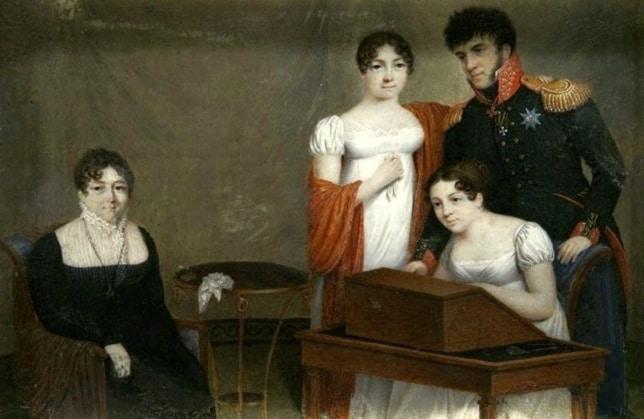 משפחת גוליצין, אחת ממשפחות העלית האריסטוקרטית ברוסיה. ציור משנת 1810.