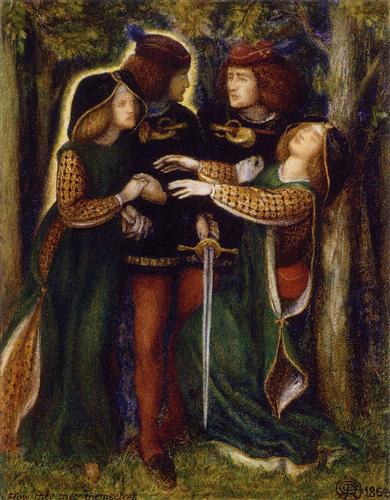 כך הם פגשו את עצמם, מאת דנטה גבריאל רוזטי, 1864