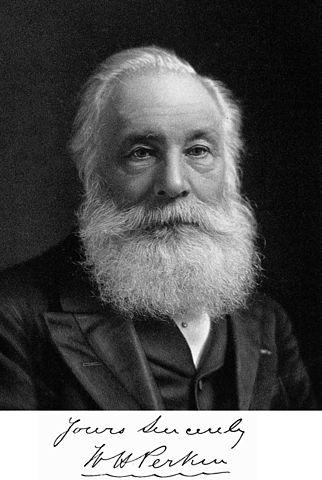 הכימאי ויליאם הנרי פרקין המציא את חומר הצביעה הלא-טבעי הראשון