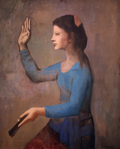 אישה כחולה פיקאסו