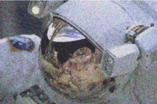 צילום ״לא-רועש״ של אסטרונאוט, לאחר שהופעל הפילטר של ווינר
