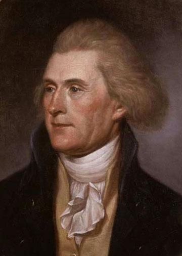 פורטרט של תומאס ג׳פרסון, מאת צ׳ארלס פילי, 1791