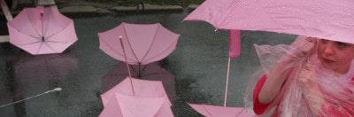 מטריות ורודות