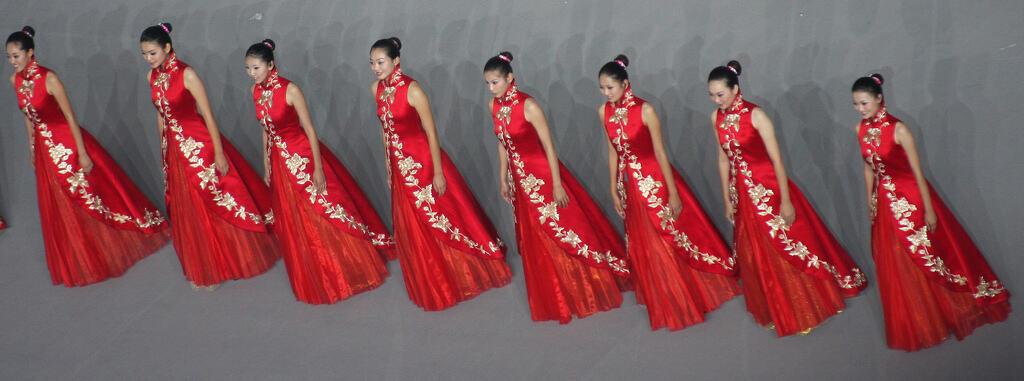 משתתפות בתחרות ״Miss China״ בטקס הנעילה של אולימפיאדת בייג׳ינג, 2008. צילום: liqiyuan