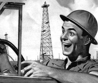 איש מאושר נוהג לעבודה