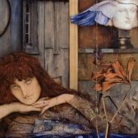 ציור של אישה מתבוננת