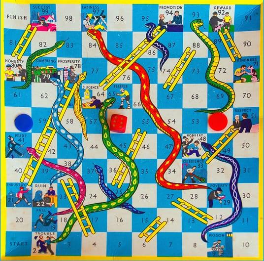 הגרסה האמריקאית של ״סולמות ונחשים״.