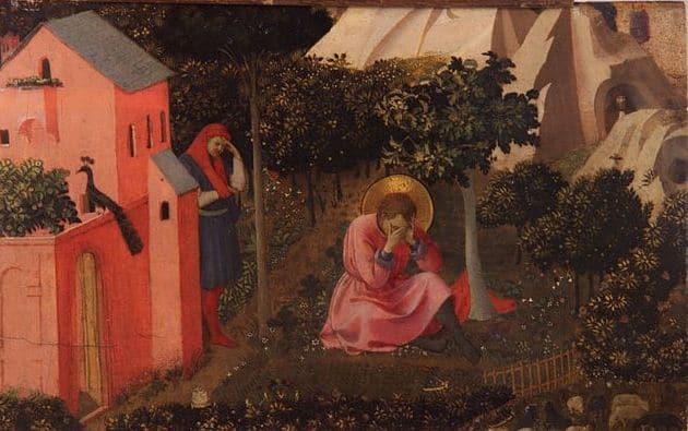 אוגוסטינוס ממיר את דתו, מאת פרה אנג'ליקו
