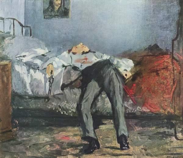 ההתאבדות מאת אדואר מאנה.
