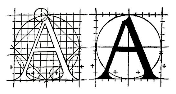 האותיות הרומיות שעיצב טורי.