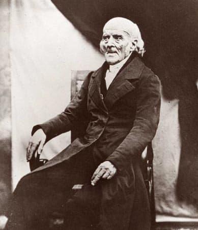 הרופא הגרמני סמואל האנמן כפי שצולם בשנת 1841