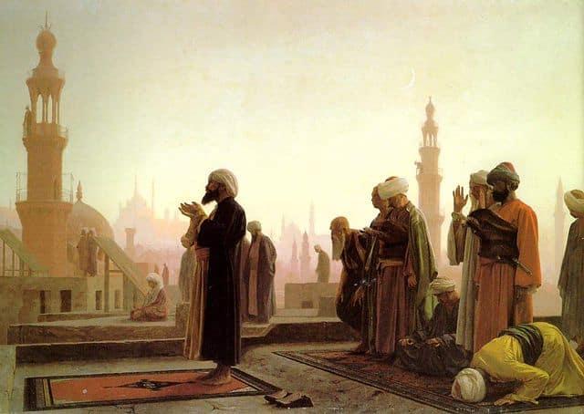 """""""מתפללים בקהיר״ מאת ז׳אן-לאון ז׳רום."""