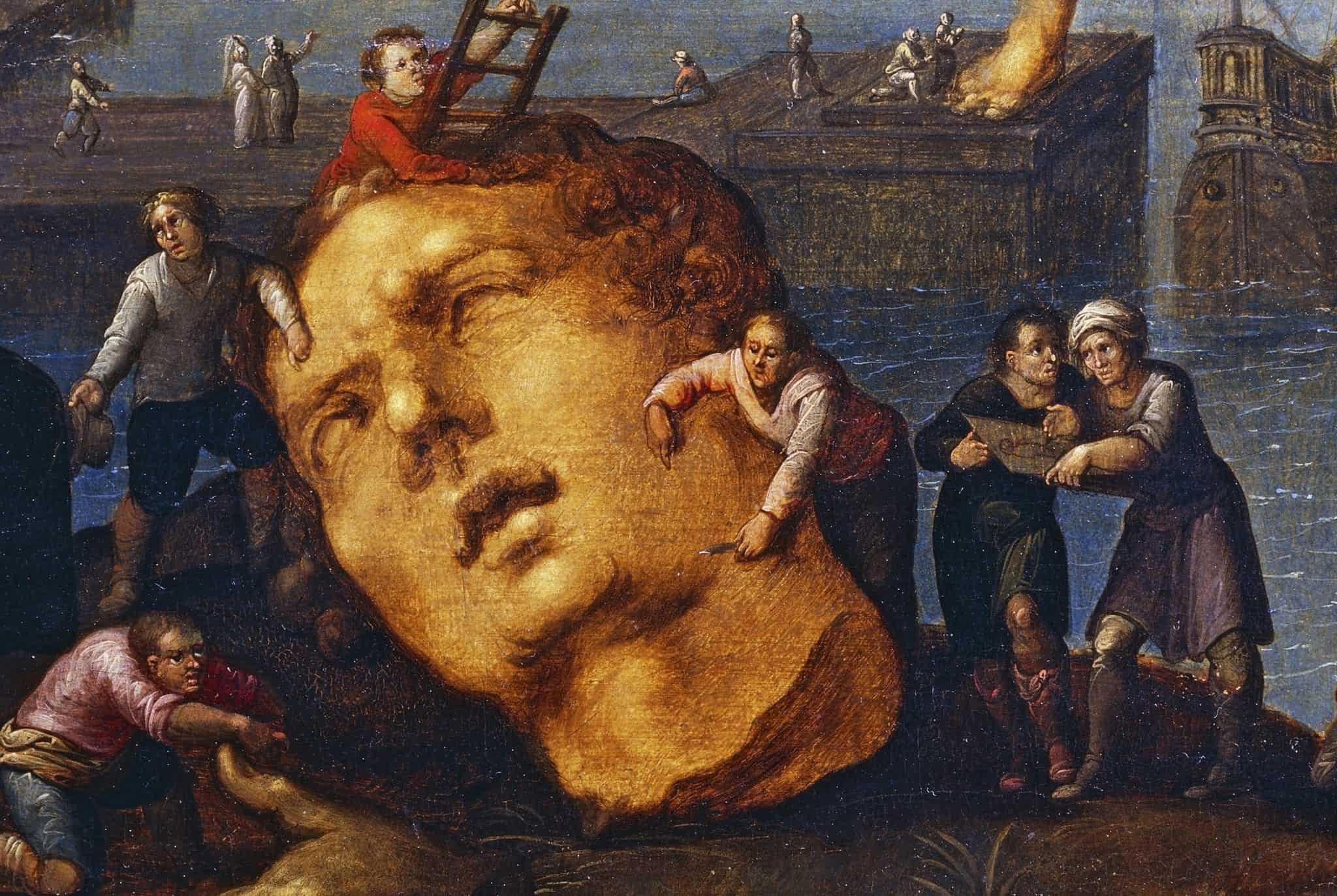 ״הקולוסוס מרודוס״ מאת לואיס דה קולרי 1580 - 1621. באדיבות גטי אימג׳ס