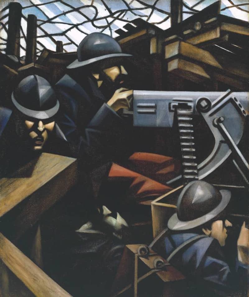 ״La Mitrailleuse 1915״ מאת כריסטופר נבינסון