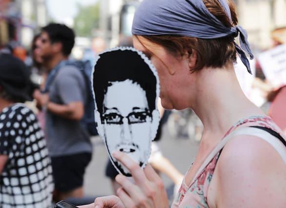 הפגנת תמיכה באדוארד סנודן בברלין, 2013. צילום: מרכוס וינקלר