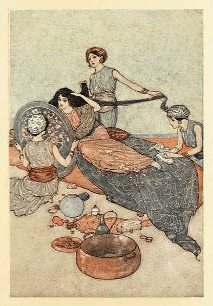 מתוך אוסף סיפורי ״אלף לילה ולילה״ שראה אור באנגליה ב-1911